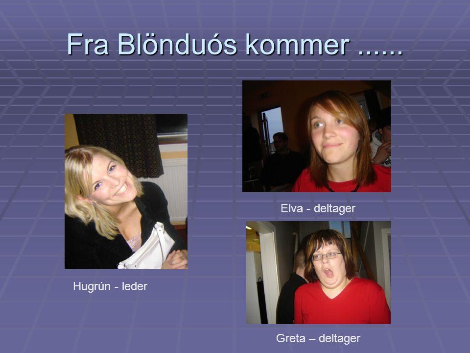 Fra Blönduós kommer...... Hugrún - leder Elva - deltager Greta – deltager