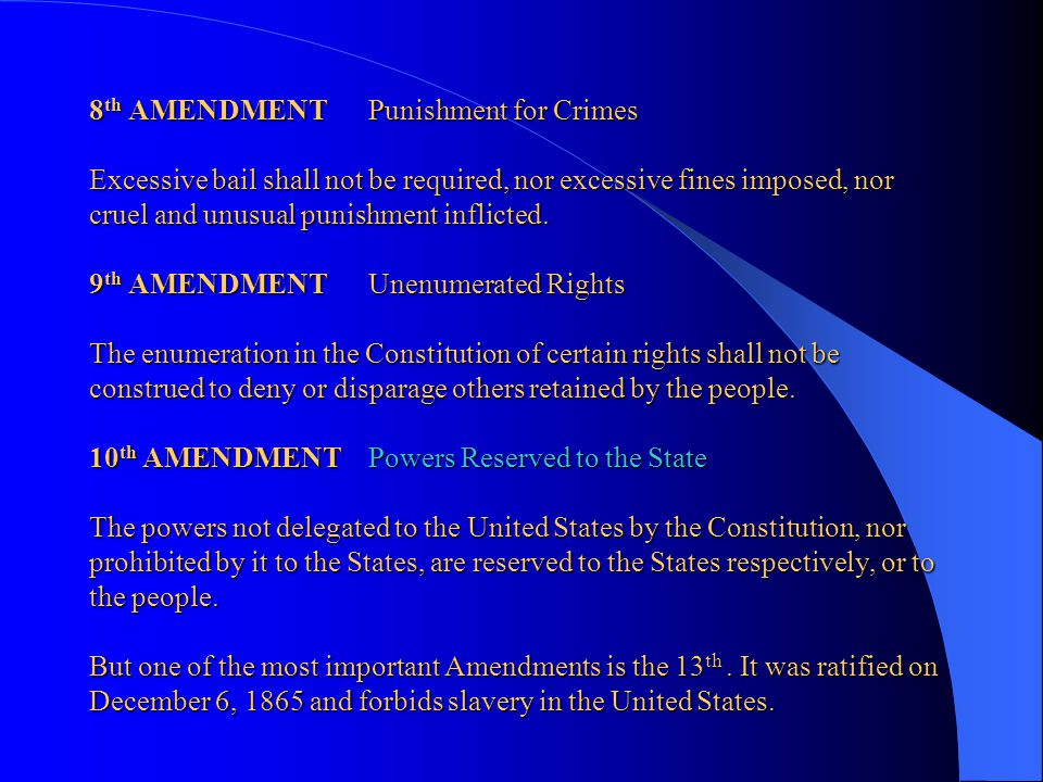 6 th AMENDMENT Criminal Proceedings In all criminal prosecutions, the accused shall enjoy the right to a speedy and public trial, by an impartial jury