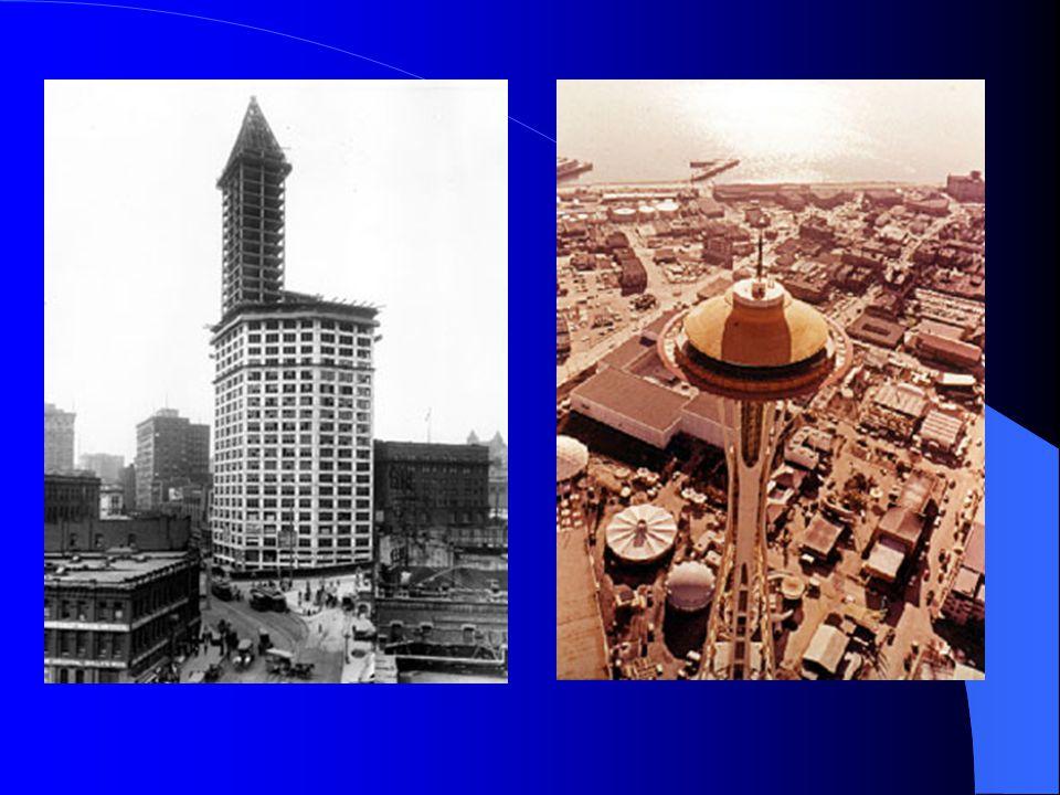The Smith Tower was dedicated in 1914 and more than doubled the height of the city's skyline. In the same year there was a general strike. It began on