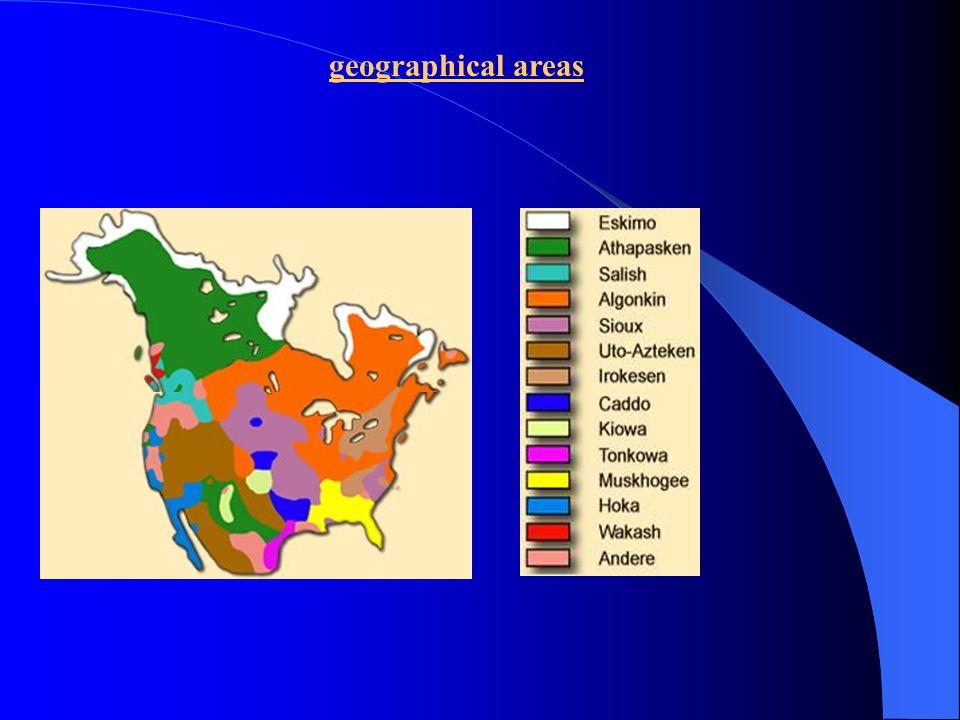 geographical areas 1 southeast 2 southwest 3 plains 4 Arizona 4a plateau 5 California 6 northwest coast 7 subarctic zone 8 arctic zone 9 northeast