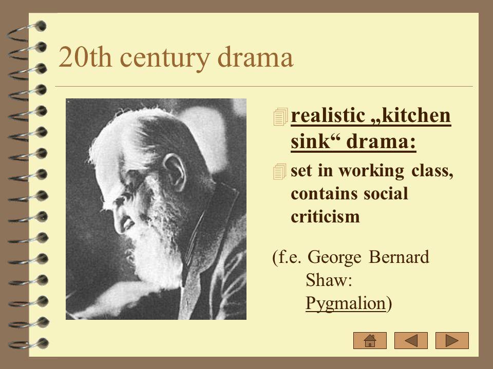 20th century drama 4 absurd drama: 4 surrealistic plot (f.e. Samuel Beckett: Waiting for Godot)