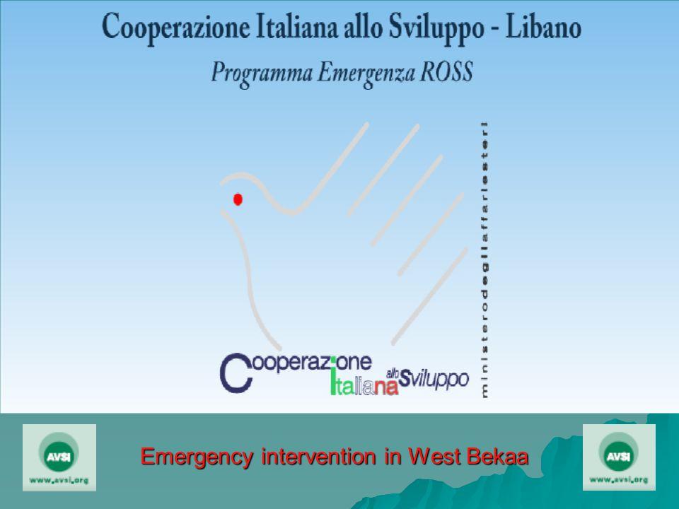 Emergency intervention in West Bekaa