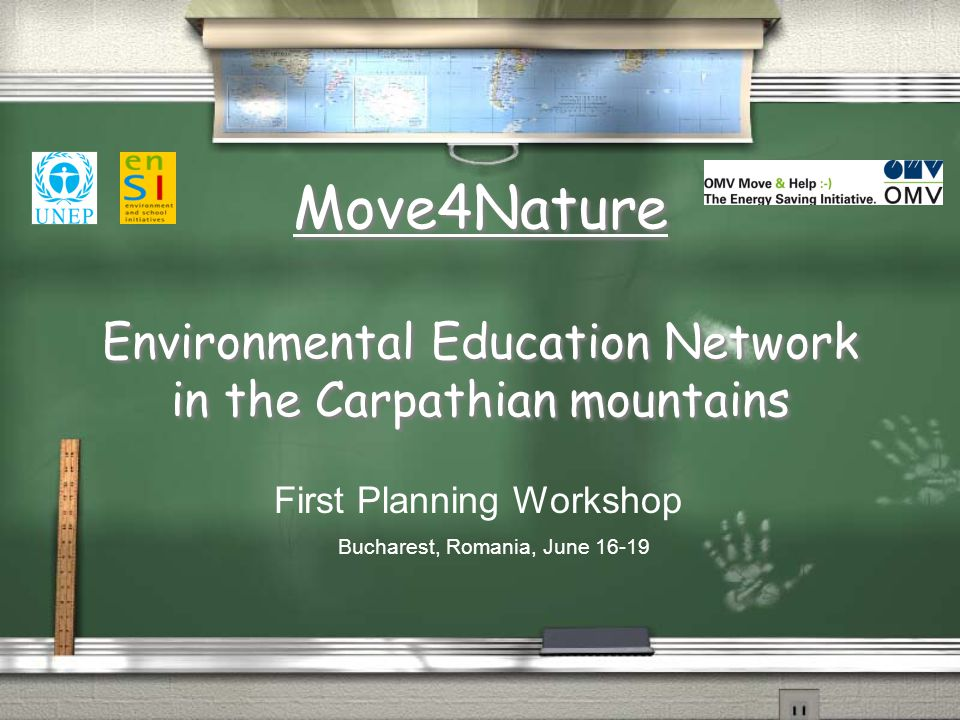 The Main Idea The Main Idea:  To mainstream environmental issues into educational practice in the Carpathian schools through regional cooperation.
