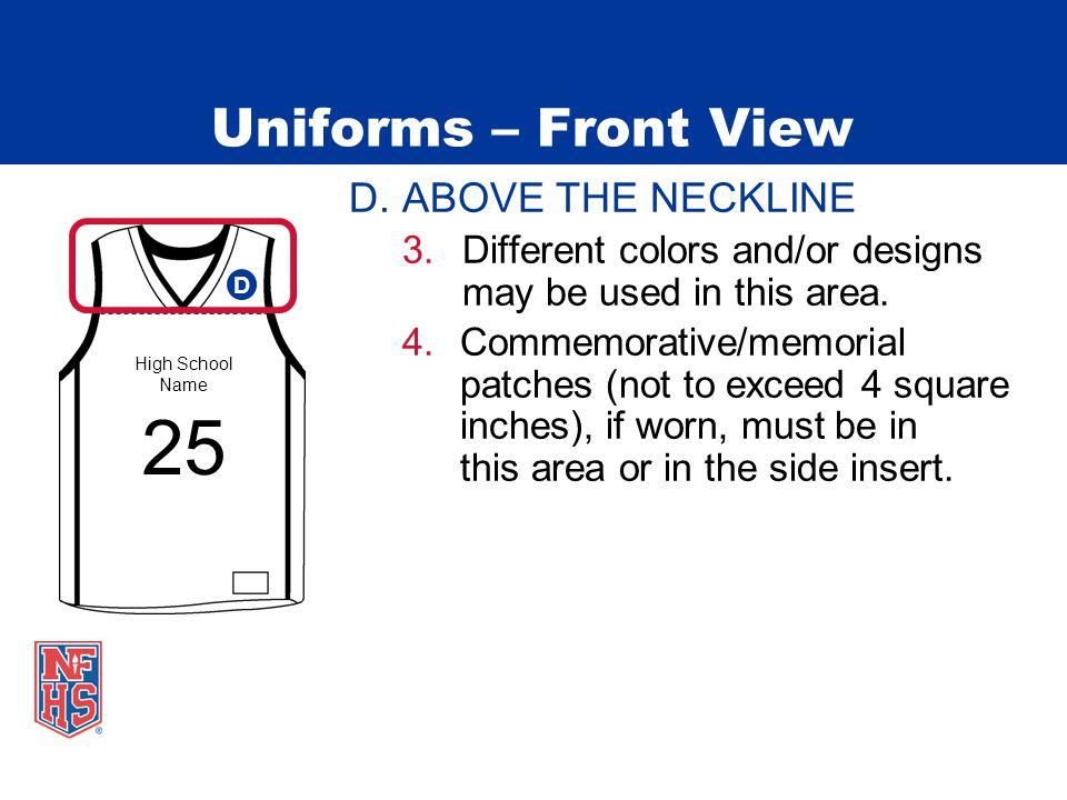 Uniforms – Front View D.