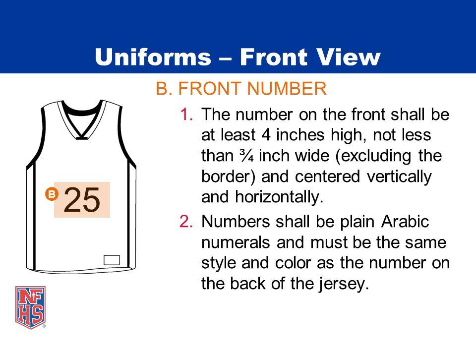 Uniforms – Front View B.