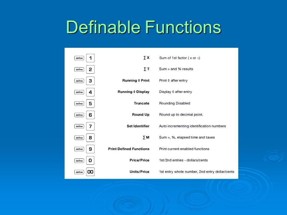 Definable Functions