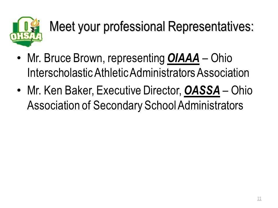 PROFESSIONAL ORGANIZATIONS OASSA – Ohio Assn.