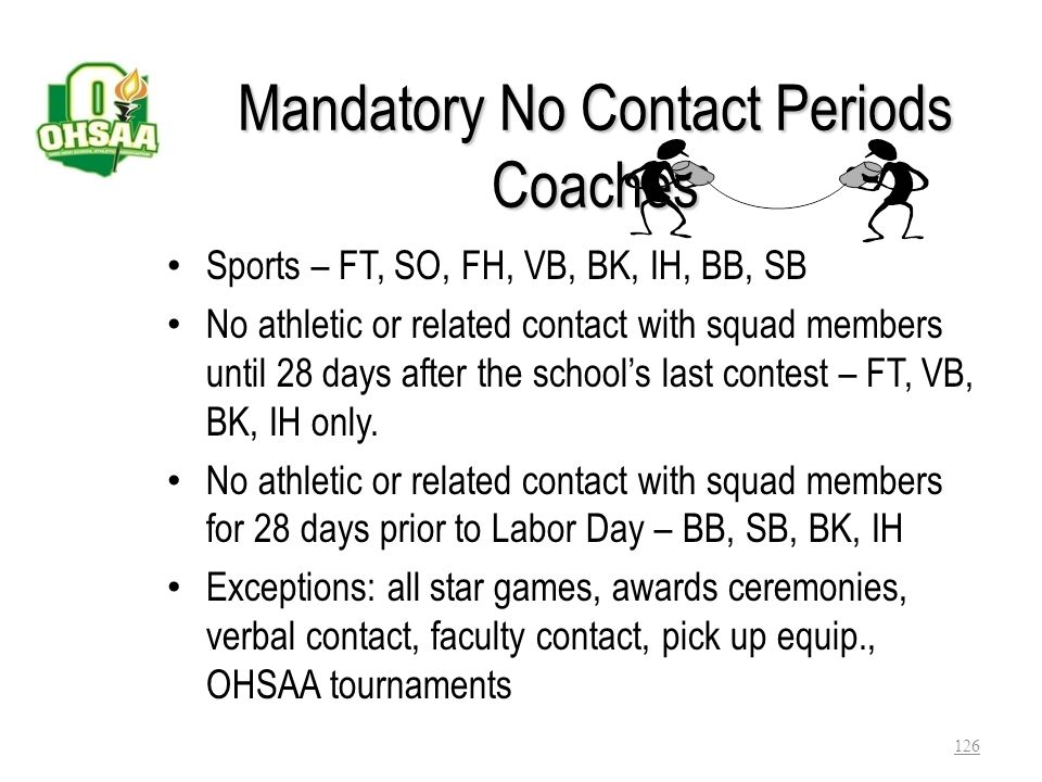 Open Gymnasium or Facilities (Member and Non-Member Schools) 1.May open facilities for unstructured free play 2.May designate the sport/grade level -