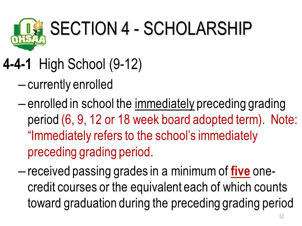 Bylaw 4-3-7- Graduate outside the USA Considered a graduate when completed the work required for graduation outside the USA Exception: If the student