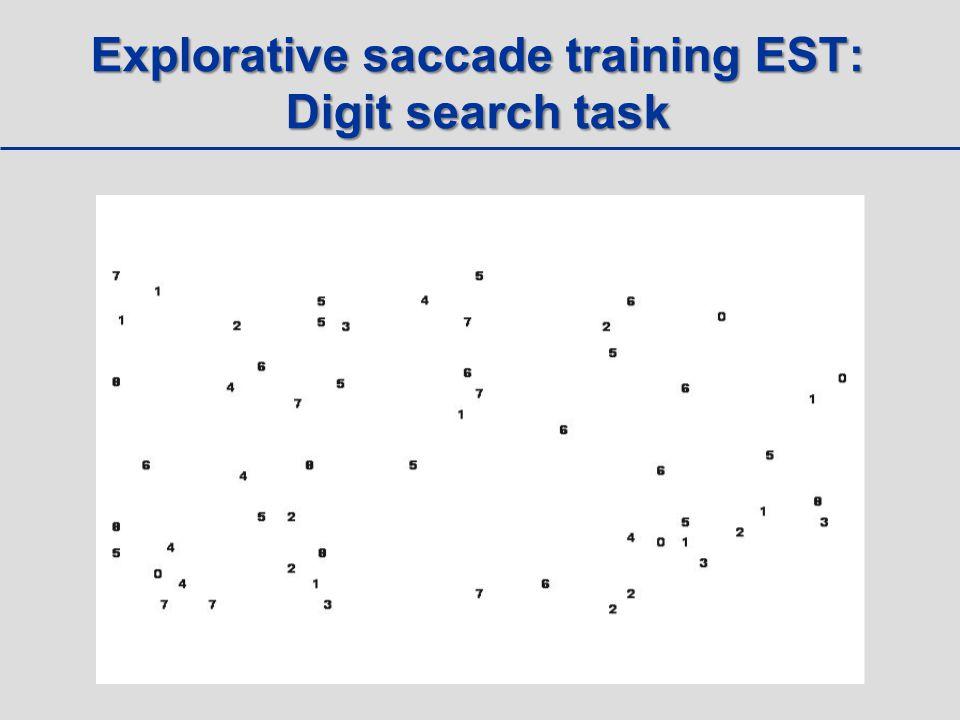 Explorative saccade training EST: Digit search task