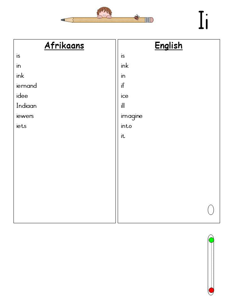 Ii Afrikaans is in ink iemand idee Indiaan iewers iets English is ink in if ice ill imagine into it