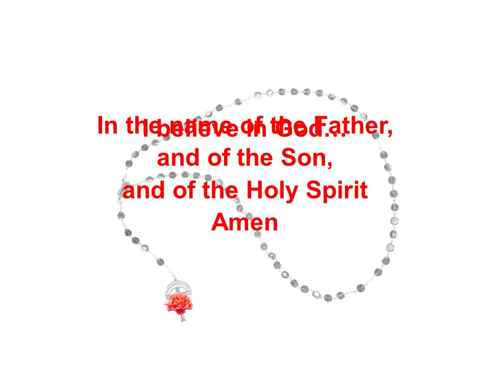 Baptism of Jesus In the name of the Father, and of the Son, and of the Holy Spirit Amen I believe in God…