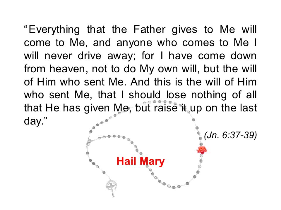 """""""Everything that the Father gives to Me will come to Me, and anyone who comes to Me I will never drive away; for I have come down from heaven, not to"""
