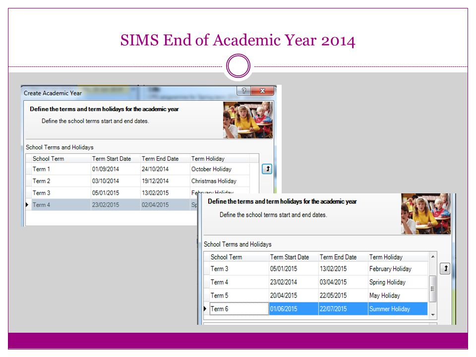 SIMS End of Academic Year 2014