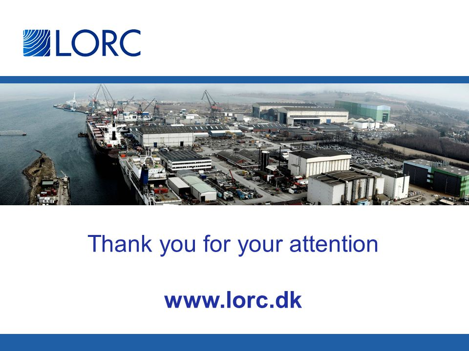 Thank you for your attention www.lorc.dk