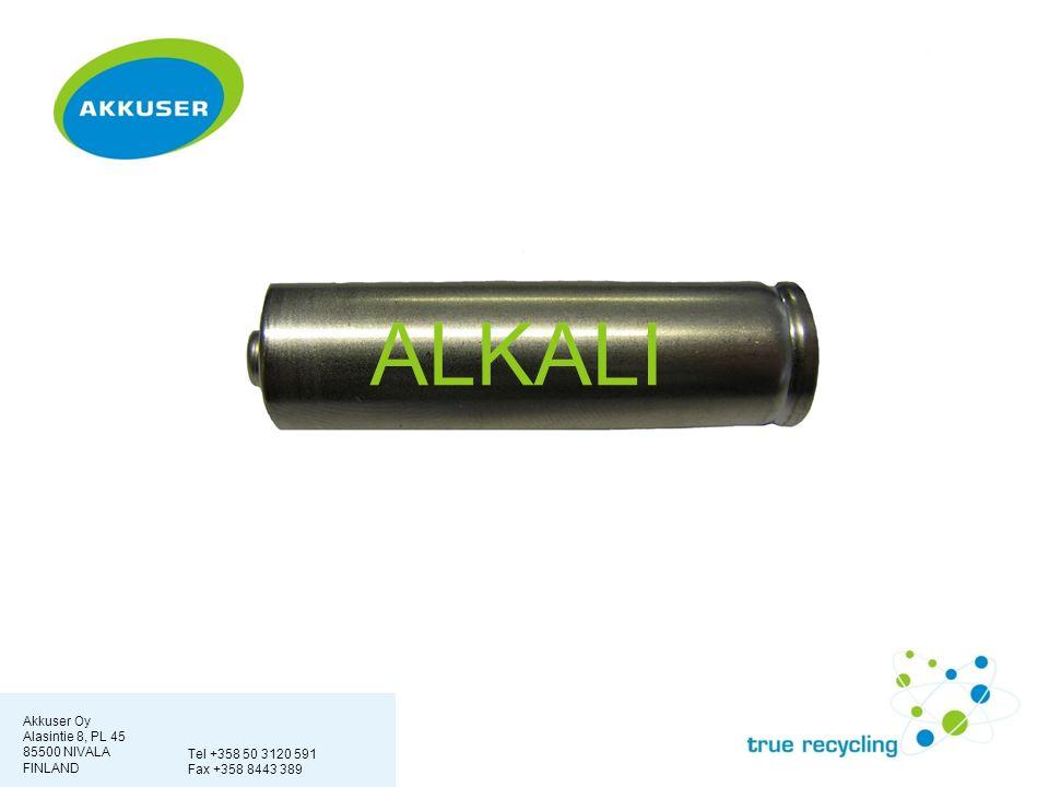 Akkuser Oy Alasintie 8, PL 45 85500 NIVALA FINLAND Tel +358 50 3120 591 Fax +358 8443 389 ALKALI