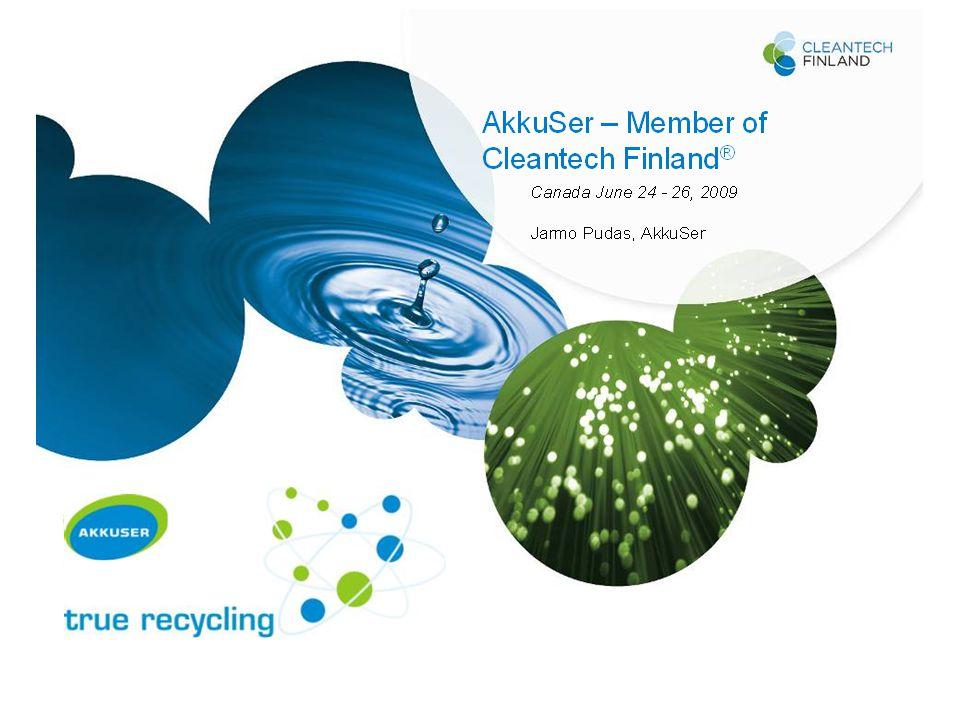 Akkuser Oy Alasintie 8, PL 45 85500 NIVALA FINLAND Tel +358 50 3120 591 Fax +358 8443 389 Largest Cobalt refinery in the world