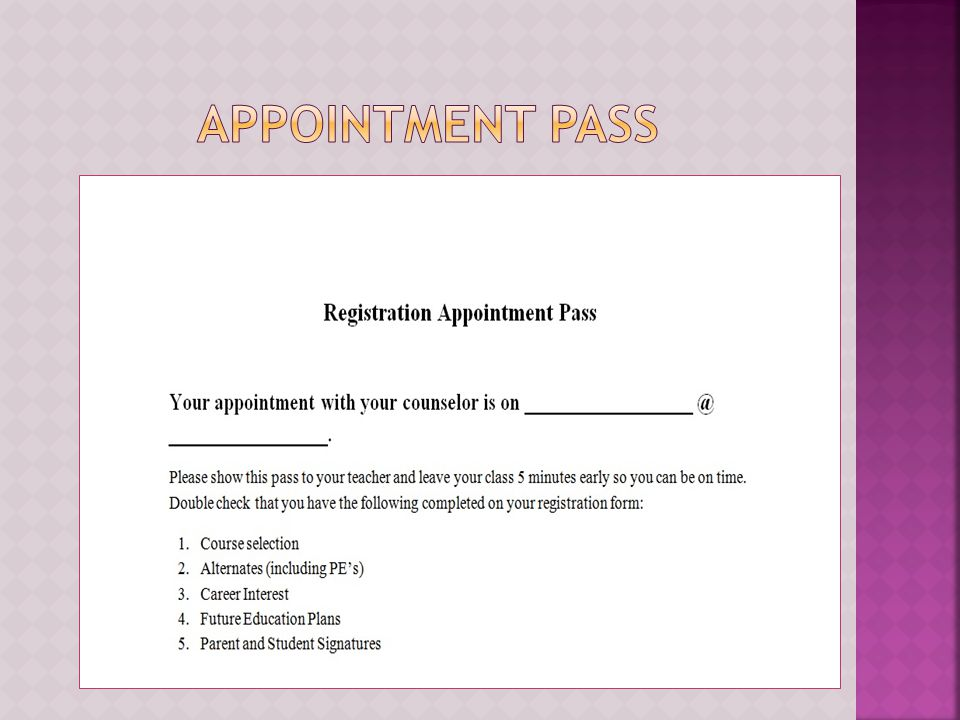  Begins on November 7 th  Ends on November 21 st  Be on time for your appointment  Be prepared with a completed form