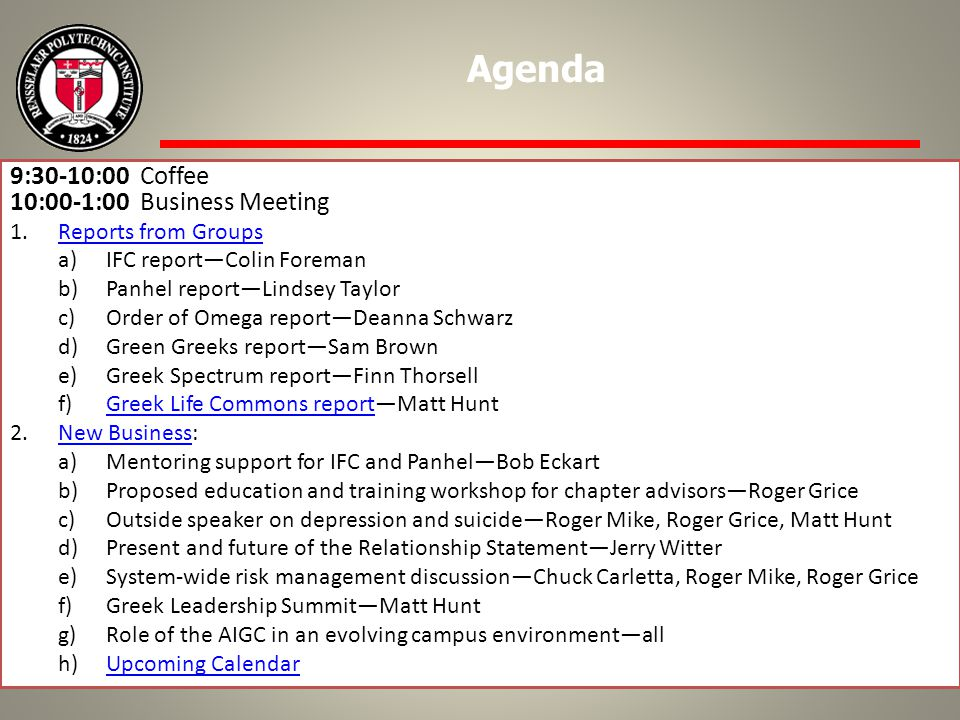 In summer of 2011, OGLC formed a review committee Was to review the document and establish a schedule for revision It got sidetracked with other higher priority items Work next months to create a new draft with 2008 revisions and GLCA Review the GLCA to see if changes are recommended for it as well Make a draft for review at future AIGC meetings or other special meetings Ratification process for 20?.