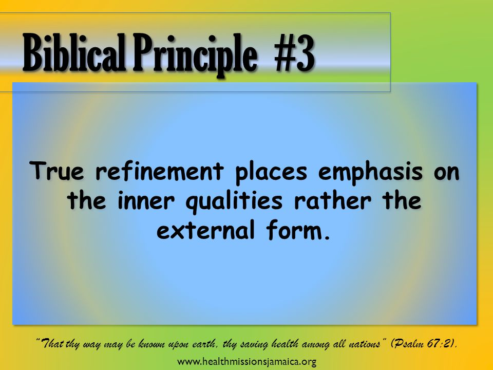 True refinement places emphasis on the inner qualities rather the external form.