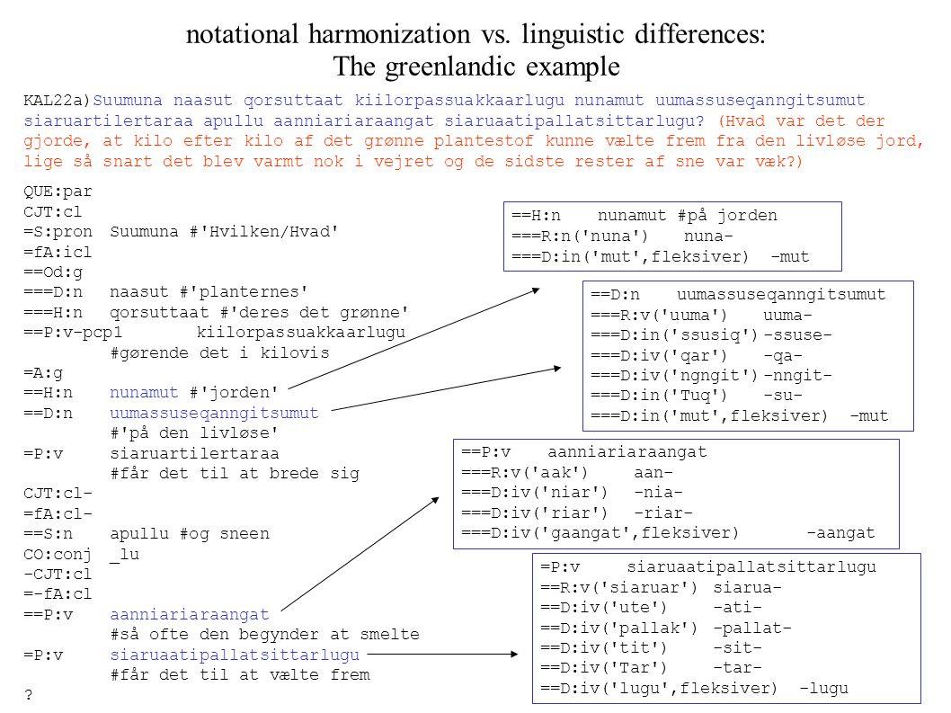 notational harmonization vs.