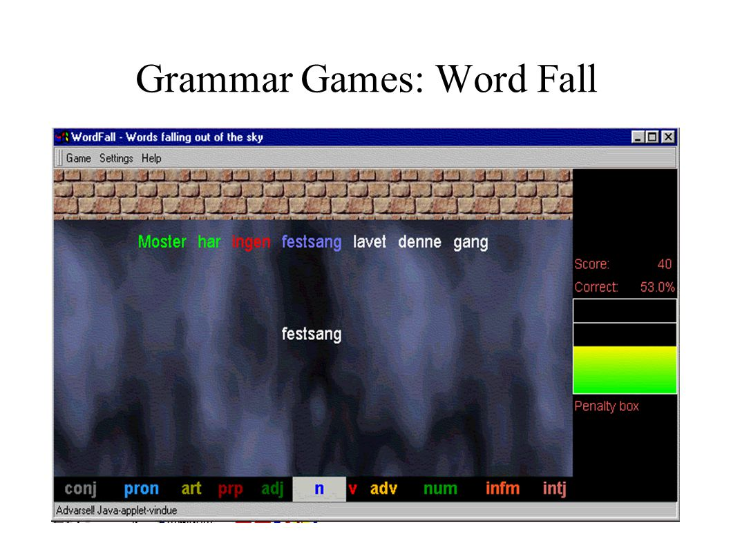 Grammar Games: Word Fall