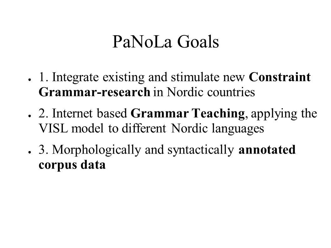 PaNoLa Goals ● 1.