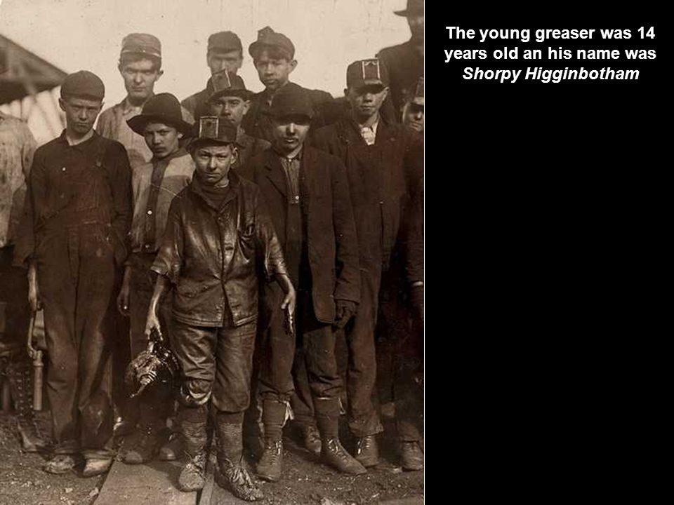Young greaser in the DORA JEFFERSON mine in Alabama – 1910