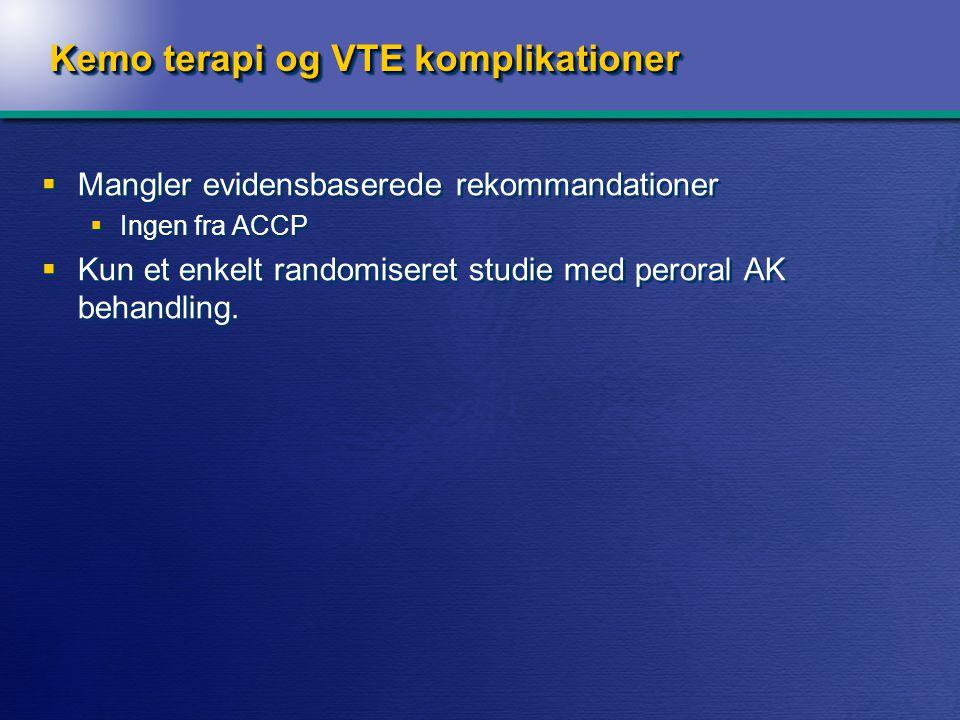 Recidiv af VTE 8,0% 15,8% Absolut risikoreduktion 7,8% 1 event sparet pr. 13 behandlede (NNT 13)