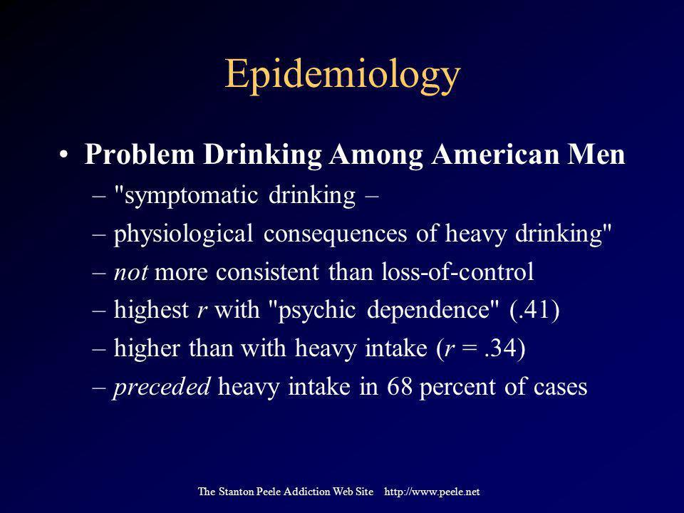The Stanton Peele Addiction Web Site http://www.peele.net Epidemiology Problem Drinking Among American Men –