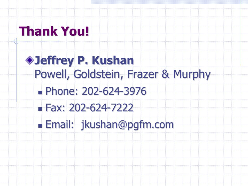 Thank You. Jeffrey P.
