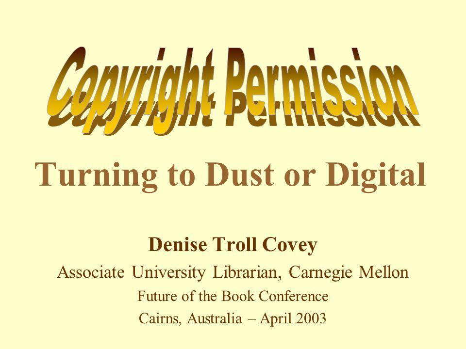 Perilous Facts Books are turning to dust on library shelves Even if digitized, books can disappear or go dark, & licenses & technologies can trump legal uses Stewardship of our heritage is endangered Equitable access is becoming a platitude Education & scholarship are in peril