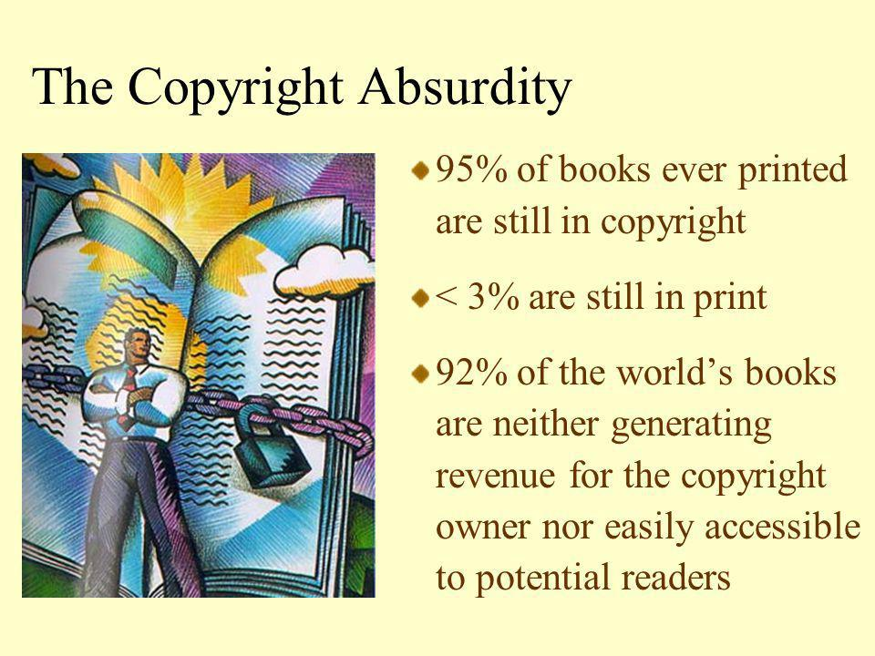 Copyright Assessments Number of copyrighted books in the Collection Success rate of permission requests Participating publisher –Overall satisfaction –Quality of the copies –What they did or plan to do with the copies –Impact on revenue & view of open access