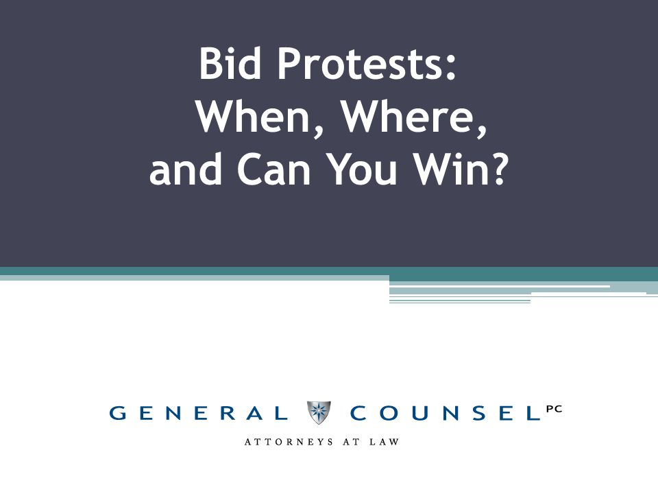 What is a bid protest.