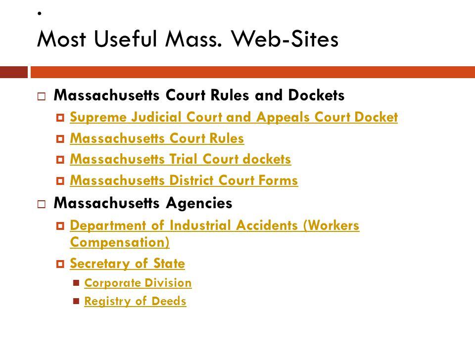 Most Useful Mass.