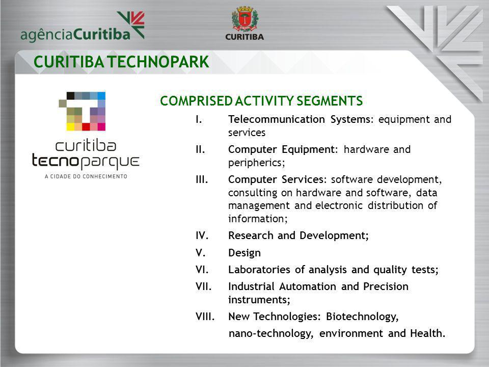 COMPRISED ACTIVITY SEGMENTS I.Telecommunication Systems: equipment and services II.Computer Equipment: hardware and peripherics; III.Computer Services