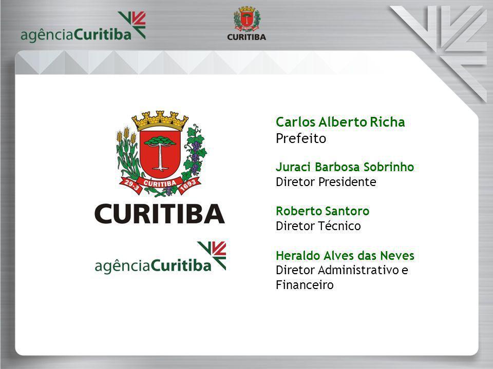 Carlos Alberto Richa Prefeito Juraci Barbosa Sobrinho Diretor Presidente Roberto Santoro Diretor Técnico Heraldo Alves das Neves Diretor Administrativo e Financeiro