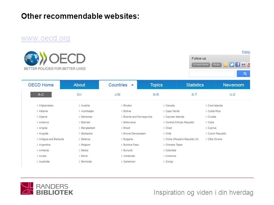 Inspiration og viden i din hverdag Other recommendable websites: www.oecd.org