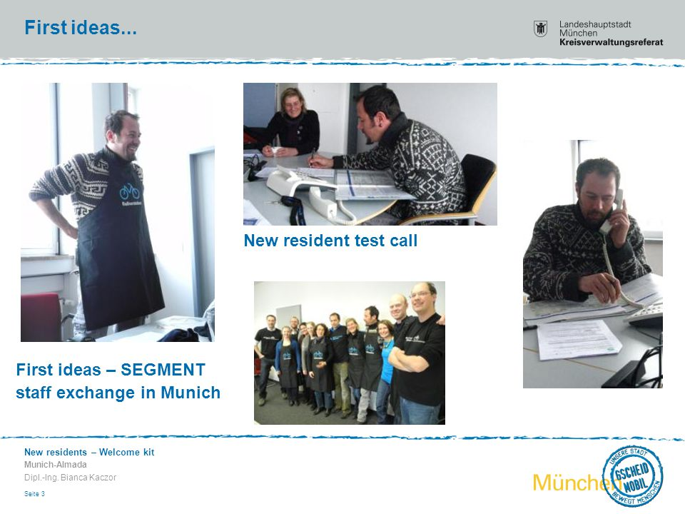 New residents – Welcome kit Munich-Almada Dipl.-Ing.