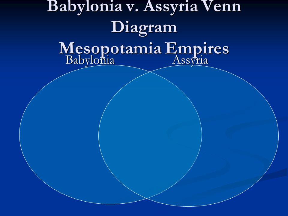 Babylonia v. Assyria Venn Diagram Mesopotamia Empires Babylonia Assyria Babylonia Assyria