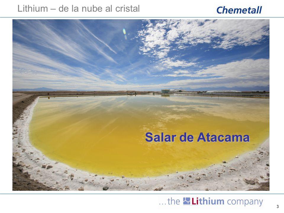 3 Lithium – de la nube al cristal Salar de Atacama