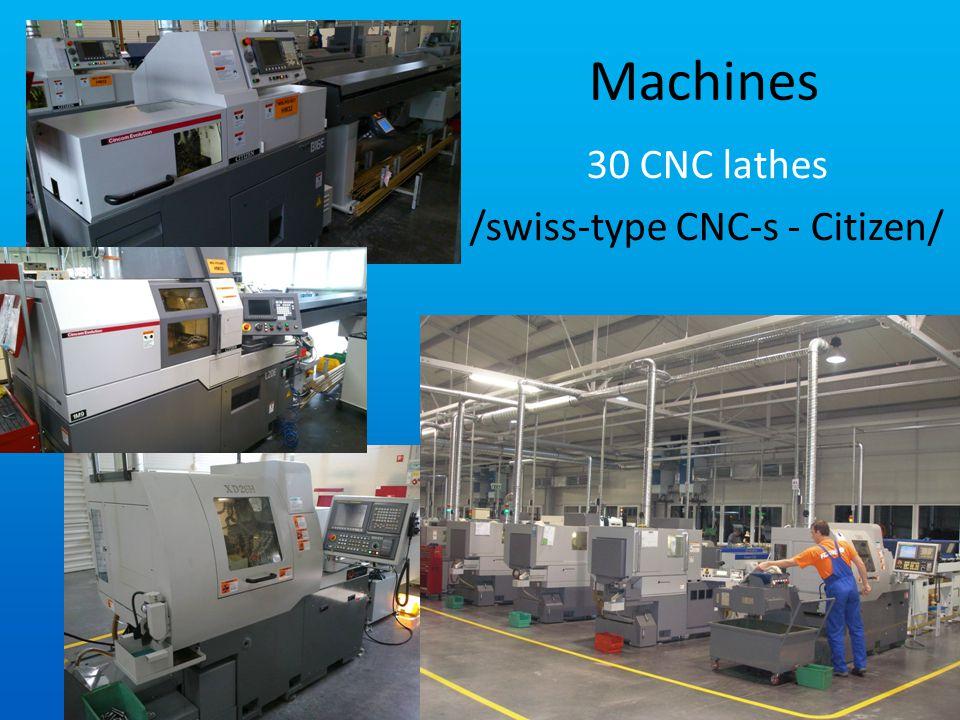 Machines 30 CNC lathes /swiss-type CNC-s - Citizen/