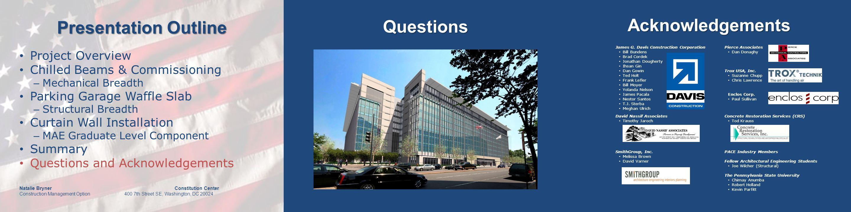 Presentation Outline Natalie Bryner Constitution Center Construction Management Option 400 7th Street SE, Washington, DC 20024 Questions James G.