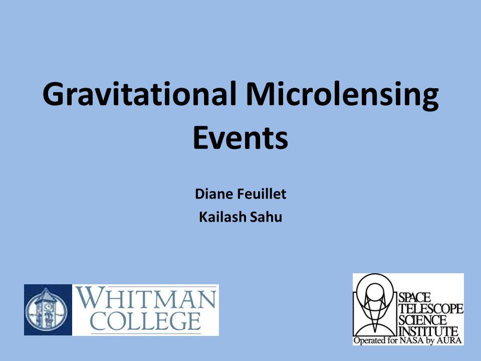 Gravitational Microlensing Events Diane Feuillet Kailash Sahu