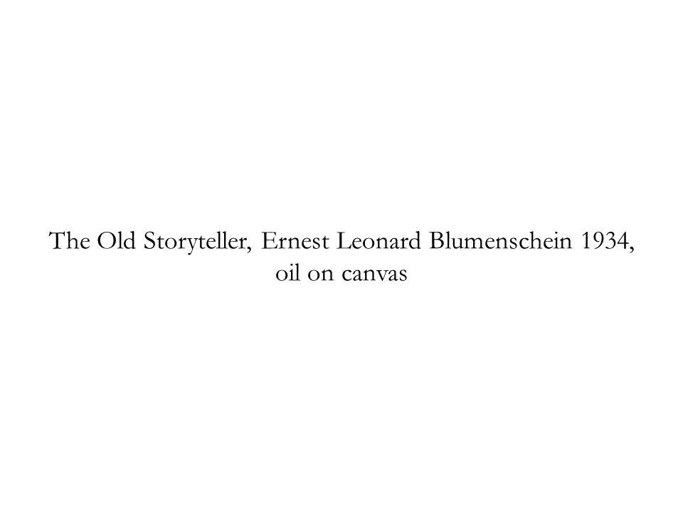 The Old Storyteller, Ernest Leonard Blumenschein 1934, oil on canvas