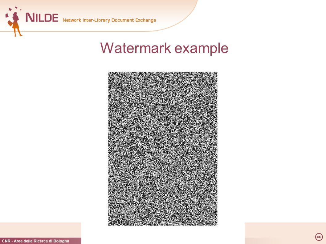 Watermark example