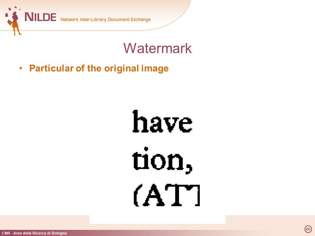 Particular of the original image Watermark