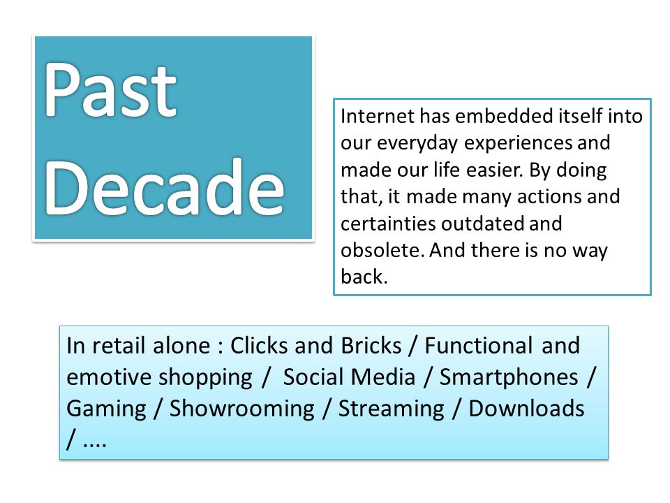 Internet has embedded itself into our everyday experiences and made our life easier.