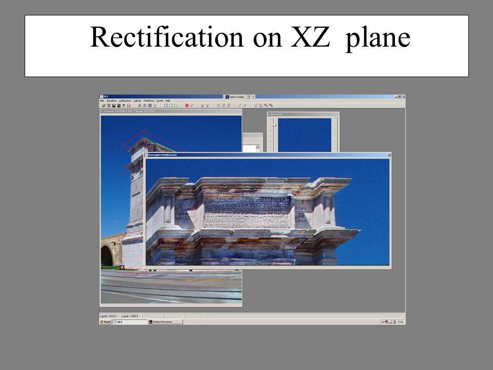 Rectification on XZ plane