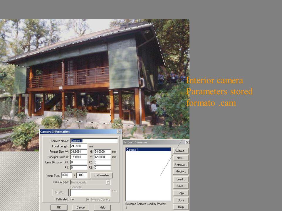 inverse Camera Interior camera Parameters stored formato.cam